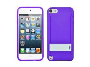 Apple iPod Touch 5th Gen/6th Gen Case, eForCity Stand PC/TPU Rubber Case Cover Compatible With Apple iPod Touch 5th Gen/6th Gen, Purple/White