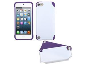 Apple iPod Touch 5th Gen/6th Gen Case, eForCity Fusion Dual Layer [Shock Absorbing] Protection Hybrid PC/Silicone Case Cover Compatible With Apple iPod Touch 5th Gen/6th Gen, White/Purple