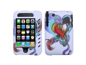 MYBAT Lizzo Snake Tattoo White Phone Protector Faceplate Cover(with Stylus) For APPLE iPhone 3GS/3G