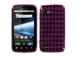 MYBAT Hot Pink Argyle Pane Candy Skin Cover for MOTOROLA MB865 (Atrix 2)