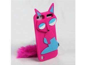 Apple iPod Touch 5th Gen/6th Gen Case, eForCity 3D Fox Rubber Silicone Soft Skin Gel Case Cover Compatible With Apple iPod Touch 5th Gen/6th Gen, Hot Pink/Blue