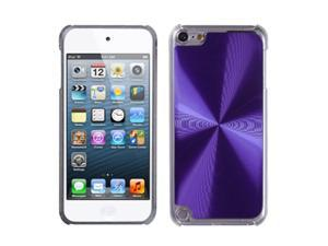 Apple iPod Touch 5th Gen/6th Gen Case, eForCity Cosmo Metal Aluminum Case Cover Compatible With Apple iPod Touch 5th Gen/6th Gen, Purple/Clear