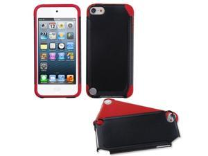 Apple iPod Touch 5th Gen/6th Gen Case, eForCity Fusion Dual Layer [Shock Absorbing] Protection Hybrid PC/Silicone Case Cover Compatible With Apple iPod Touch 5th Gen/6th Gen, Black/Red