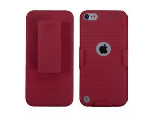Apple iPod Touch 5th Gen/6th Gen Case, eForCity Rubberized Hard Snap-in Holster Case Cover Compatible With Apple iPod Touch 5th Gen/6th Gen, Red