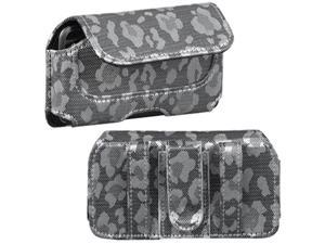 MYBAT Horizontal Pouch (722603)(Silver&Gray Watermark)(NO Package) for LG UX700 (Bliss)&#59; Apple® iPod touch® 1st generation / 2nd generation / 3rd generation / 4th generation