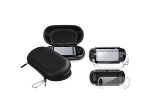 eForCity Full Body Front&Back Screen Protector Guard + Black EVA Case For Sony PS Vita PSV