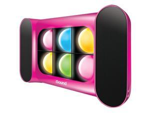 Dreamgear Isound-5248 Iglowsound Speaker System With Dancing Lights , Pink