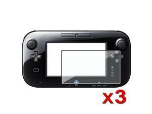 3PCS Clear LCD Screen Protector Film For Nintendo Wii U Gamepad Remote Controller