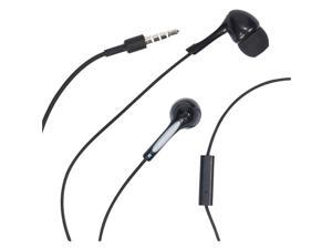 Rca Hp59Mic Noise-Isolating Stereo In-Ear Earbuds With In-Line Microphone  , Black