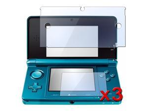 3-Pack Clear LCD Screen Protector Cover for Nintendo 3DS (Set of 2 - Top and Bottom Cover)