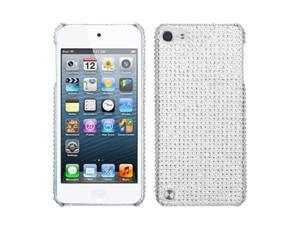 Apple iPod Touch 5th Gen/6th Gen Case, eForCity Rhinestone Diamond Bling Hard Snap-in Case Cover Compatible With Apple iPod Touch 5th Gen/6th Gen, Silver