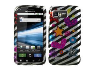 MYBAT Color Heart (2D Silver) Phone Protector Cover for MOTOROLA MB865 (Atrix 2)