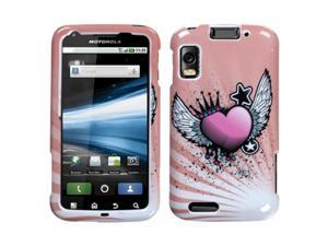 MYBAT Crowned Heart Phone Protector Faceplate Cover Compatible With MOTOROLA MB860(Olympus/Atrix 4G)