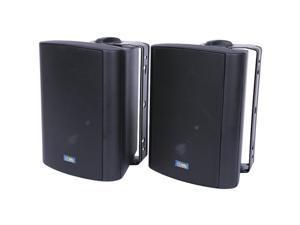 TIC CORPORATION ASP60B Indoor/Outdoor 75-Watt Speakers with 70 Volt Switching (Black)