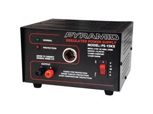 Pyramid Ps15Kx 10-Amp, 13.8-Volt Power Supply With Car Charger Adapter