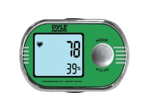 Pyle Ppde60 Pedometer With Personalized Calibration For Walking & Running & Ecg Finger Touch