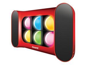 Dreamgear Isound-5247 Iglowsound Speaker System With Dancing Lights , Red