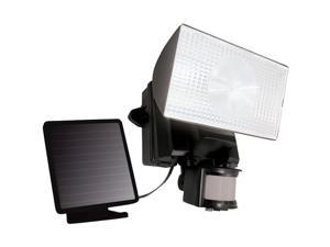 MAXSA 40223 solar-powered 50 led motion-activated outdoor security floodlight ,black