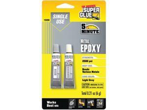Super Glue 15359 Single Use Epoxy Tubes For Metal
