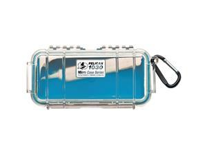 PELICAN 1030-026-100 Blue 1030 Micro Case with Clear Lid and Carabineer
