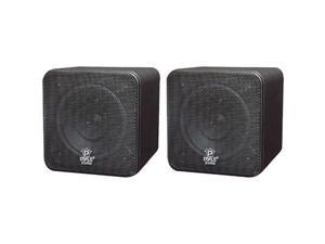 "New Pyle Pcb4bk 4"" 200W Mini Cube Bookshelf Speakers 200 Watt"