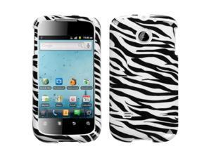 For M865 Ascend II Zebra Skin Hard Snap on Phone Protector Cover Case