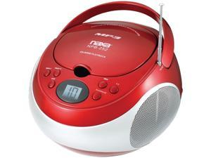Naxa Npb252Rd Portable Cd/Mp3 Player With Am/Fm Stereo ,Red
