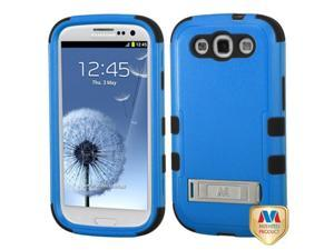 MYBAT Samsung Galaxy S III Case Cover - Natural Dark Blue/Black TUFF Hybrid Phone Protector Cover (with Stand) For Samsung Galaxy S 3 III (i747/L710/T999/i535/R530/i9300)