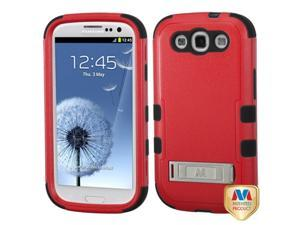 MYBAT Samsung Galaxy S III Case Cover - Natural Red/Black TUFF Hybrid Phone Protector Cover (with Stand) For Samsung Galaxy S 3 III (i747/L710/T999/i535/R530/i9300)