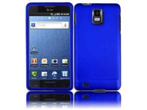 HRW Hard Rubberized Phone Case Cover Compatible With Samsung© i997 Infuse 4G , Blue