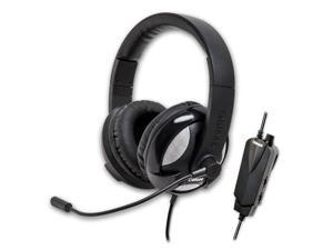 SYBA Oblanc UFO510 5.1 Channel Over-Ear Stereo Headset with Boom Mic, Black OG-AUD63067