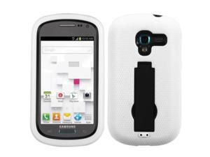 ASMYNA Black/White Symbiosis Stand Protector Cover Compatible With Samsung© T599 (Galaxy Exhibit)