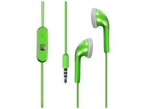 HRW Stereo Handsfree Ear Bud # 2 3.5 mm Neon Green in poly bag