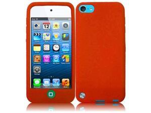 Apple iPod Touch 5th Gen/6th Gen Case, eForCity Rubber Silicone Soft Skin Gel Case Cover Compatible With Apple iPod Touch 5th Gen/6th Gen, Orange