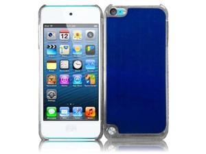 Apple iPod Touch 5th Gen/6th Gen Case, eForCity Brushed Metal Aluminum Case Cover Compatible With Apple iPod Touch 5th Gen/6th Gen, Blue/Clear