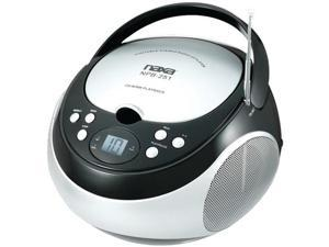 Naxa Npb251Bk Portable CD Player With Am/Fm Radio ,Black