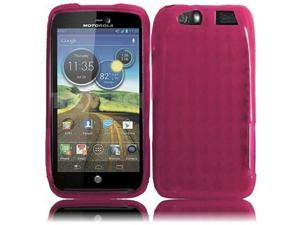 HRW for Motorola Atrix 3 MB886 Atrix HD(AT & T) TPU Cover - Hot Pink