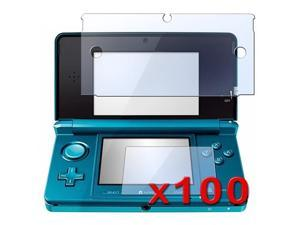 eForCity 100 x Reusable Screen Film Guard LCD Compatible With Nintendo 3DS