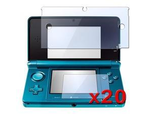 eForCity 20-Piece 2 in 1 LCD Screen Protector Compatible With Nintendo 3DS