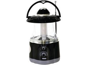 NORTHPOINT 190507 12 LED Lantern with 4 LED Flashlight & AM/FM Radio ,Black