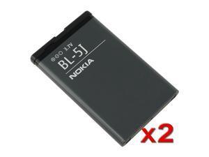 2 x Nokia 5800 XpressMusic / N900 / X6 / 5230 Standard OEM Battery BL-5J