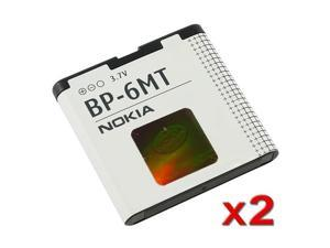 2 x Nokia 6350 / 6110 / 6720 / E51 / N81 / N82 / 5610 Standard OEM Battery BP6MT