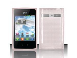 BJ For LG Optimus Logic L35g/Dynamic L38c TPU Gel Cover Case - Clear