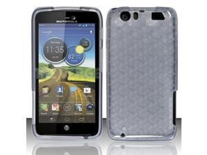BJ For Motorola Atrix 3 HD MB886 TPU Gel Skin Case Cover w/ Pattern - Smoke