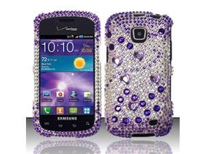 BJ For Samsung Illusion/Galaxy Proclaim i110 Full Diamond Design Case Cover