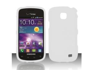 BJ For Samsung Illusion/Galaxy Proclaim i110 Rubberized Hard Case Cover - White