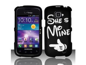 BJ For Samsung Illusion/Galaxy Proclaim i110 Rubberized Hard Design Case Cover