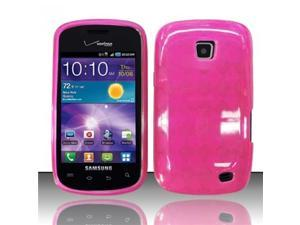 BJ For Samsung Illusion/Galaxy Proclaim i110 TPU Gel Cover Case - Hot Pink
