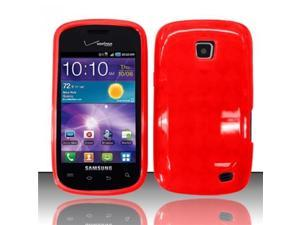 BJ For Samsung Illusion/Galaxy Proclaim i110 TPU Gel Cover Case - Red