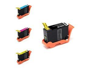 G&G 4-Pack Inkjet For Lexmark 150XL Pro 715 Pro 715, Black (14N1614), Cyan (14N615), Magenta (14N1616), Yellow (14N1617)